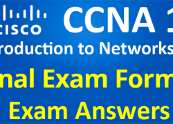 CCNA 1 Introduction to Networks Ver 6.0 – ITN Final Exam Answers Form 1
