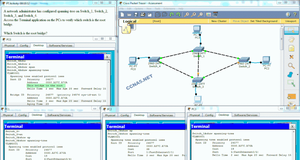 CCNA 3 Scaling Networks Ver 6.0 – ITN Chapter 3 Exam Answers